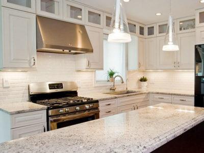 Đá Granite trắng Ấn Độ ốp mặt bếp