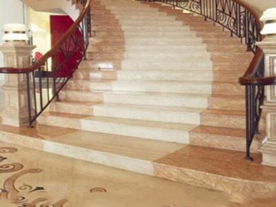 Đá Marble Rosa Light ốp cầu thang nội thất