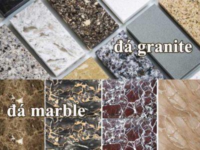 Sự khác biệt giữa đá marble cùng với đá granite