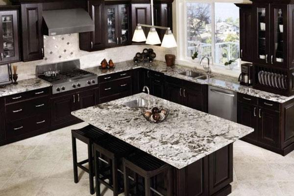 cách làm mới đá grante xin màu trong khu bếp