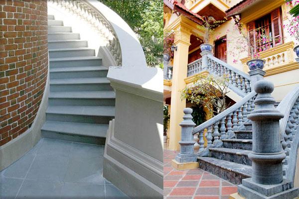 chọn đá ốp lát cầu thang ngoài trời