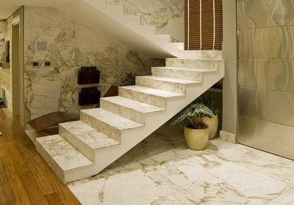 một số lưu ý khi chọn đá marble ốp cầu thang